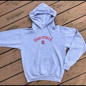 Ohio State University (OSU) Gray Hoodie Sweatshirt